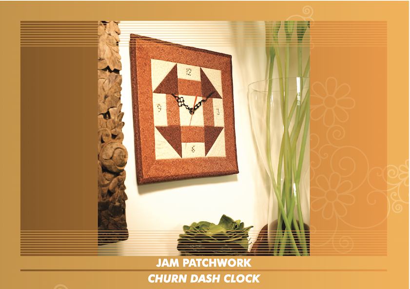 Patchwork Wall Clock (AUG)